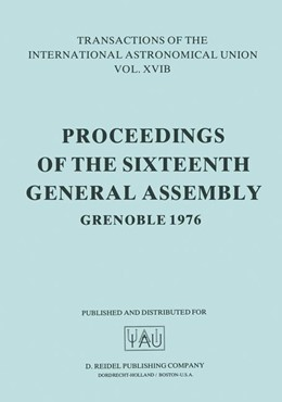 Abbildung von Müller / Jappel | Transactions of the International Astronomical Union | 1977 | Proceedings of the Sixteenth G... | 16B