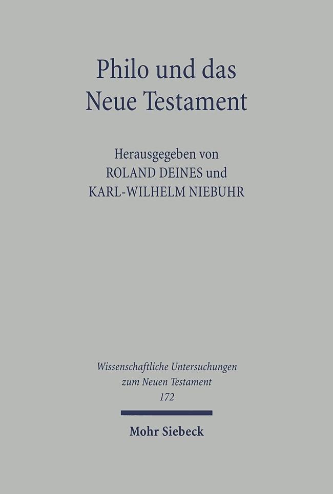 Abbildung von Deines / Niebuhr | Philo und das Neue Testament | 2004