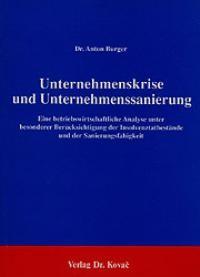 Abbildung von Burger | Unternehmenskrise und Unternehmenssanierung | 2. Auflage | 1988