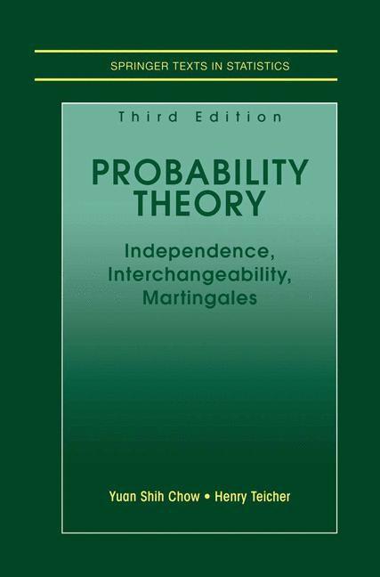 Abbildung von Chow / Teicher | Probability Theory | 3rd ed. | 1997
