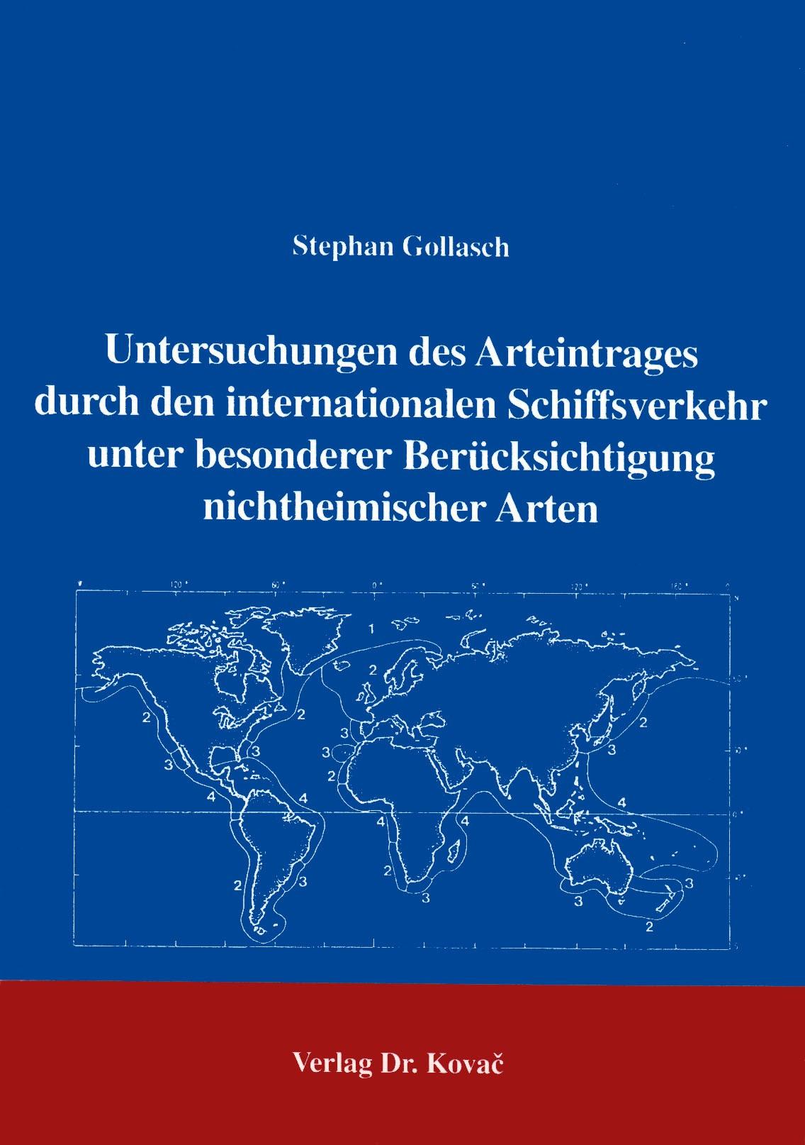 Abbildung von Gollasch | Untersuchungen des Arteintrages durch den internationalen Schiffsverkehr unter besonderer Berücksichtigung nichtheimischer Arten | 1996