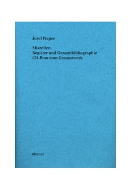 Abbildung von Pieper | Werke / Miszellen | 2008 | Register und Gesamtbibliograph...