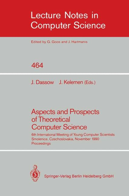 Abbildung von Dassow / Kelemen | Aspects and Prospects of Theoretical Computer Science | 1990