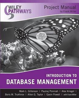 Abbildung von Gillenson / Miller | Wiley Pathways Introduction to Database Management Project Manual | 2007
