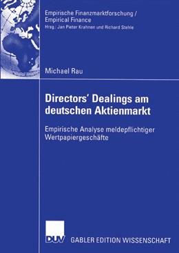 Abbildung von Rau | Directors' Dealings am deutschen Aktienmarkt | 2004 | Empirische Analyse meldepflich...