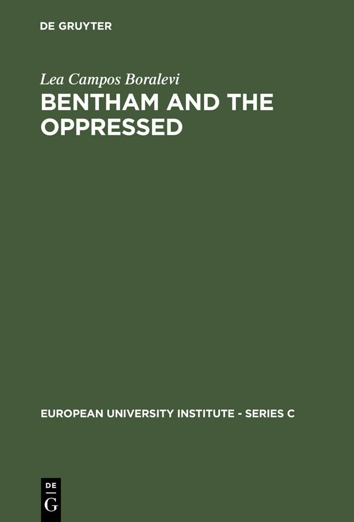 Abbildung von Campos Boralevi | Bentham and the Oppressed | Reprint 2012 | 1984