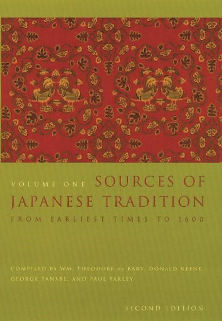 Abbildung von Bary / Gluck / Tiedemann   Sources of Japanese Tradition   second edition   2001