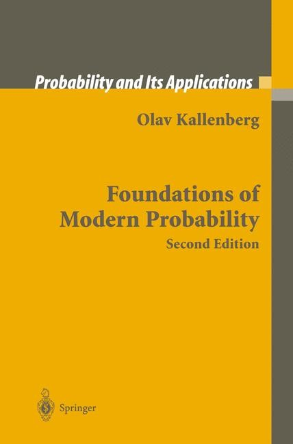 Foundations of Modern Probability | Kallenberg, 2002 | Buch (Cover)