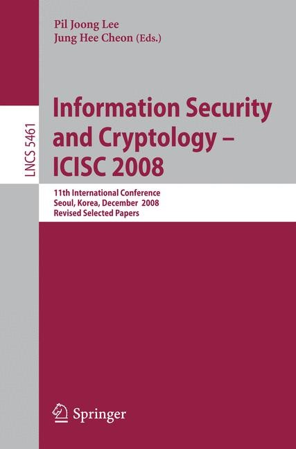 Abbildung von Lee / Cheon | Information Security and Cryptoloy - ICISC 2008 | 2009