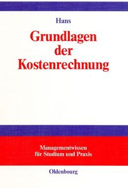 Abbildung von Hans | Grundlagen der Kostenrechnung | 2001