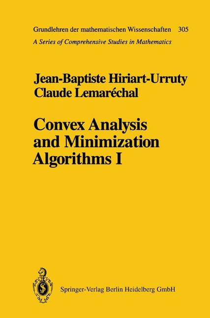 Abbildung von Hiriart-Urruty / Lemarechal | Convex Analysis and Minimization Algorithms I | 1st ed. 1993. 2nd corr. printing | 1996