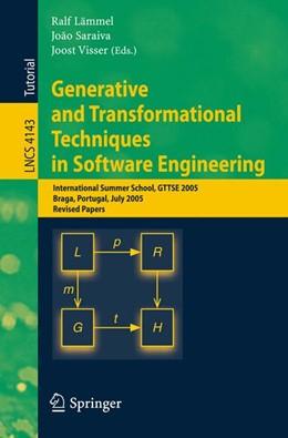Abbildung von Lämmel / Saraiva / Visser | Generative and Transformational Techniques in Software Engineering | 2006 | International Summer School, G... | 4143