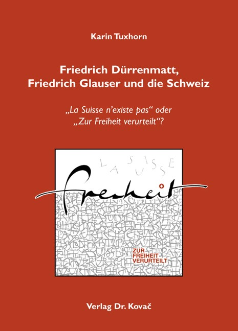 Abbildung von Tuxhorn | Friedrich Dürrenmatt, Friedrich Glauser und die Schweiz | 2009