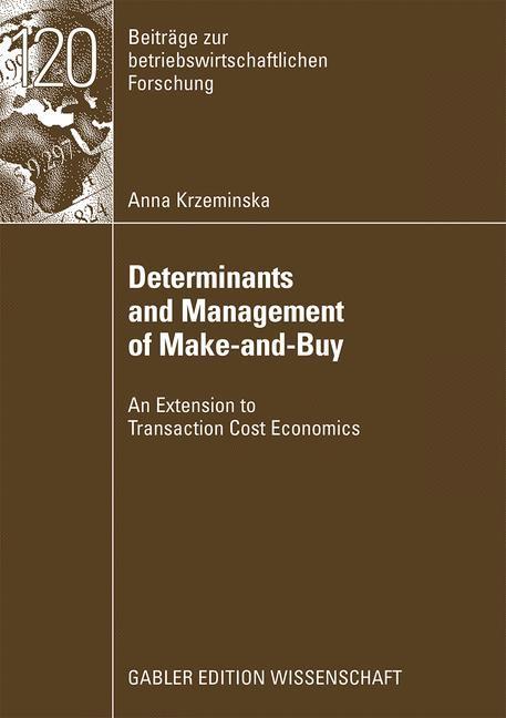 Abbildung von Krzeminska | Determinants and Management of Make-and-Buy | 2008