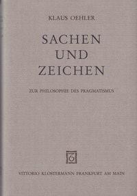 Sachen und Zeichen   Oehler, 1995   Buch (Cover)