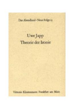 Abbildung von Japp | Theorie der Ironie | 1999 | 15