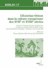 L'Extreme-Orient dans la culture europeenne des XVIIe et XVIIIe siecles | Boulerie / Favreau / Francalanza, 2009 | Buch (Cover)