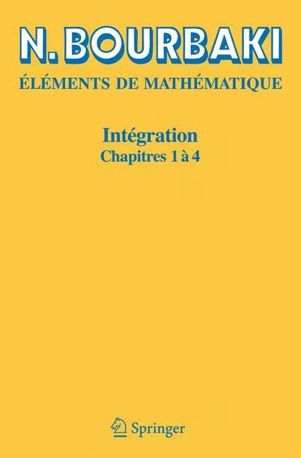 Intégration | Bourbaki | Réimpression inchangée de l'édition de 1965., 2006 | Buch (Cover)