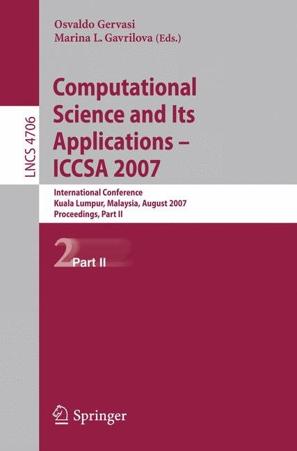 Abbildung von Gervasi | Computational Science and Its Applications - ICCSA 2007 | 2007