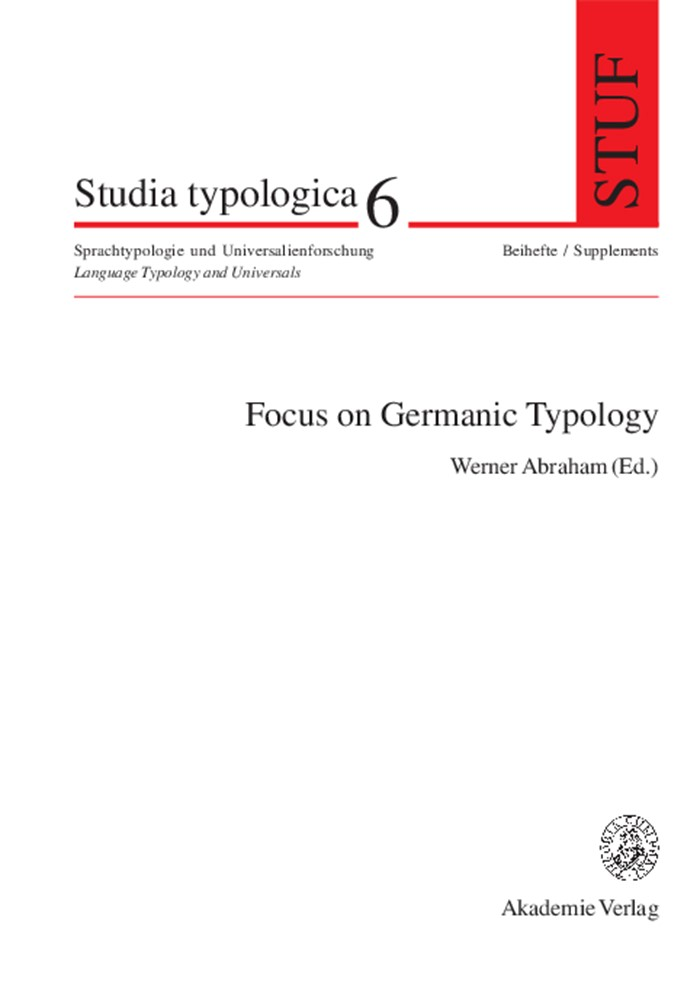 Abbildung von Abraham | Focus on Germanic Typology | 2005