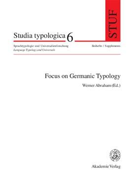 Abbildung von Abraham | Focus on Germanic Typology | 2005 | Bd. 6 | 6