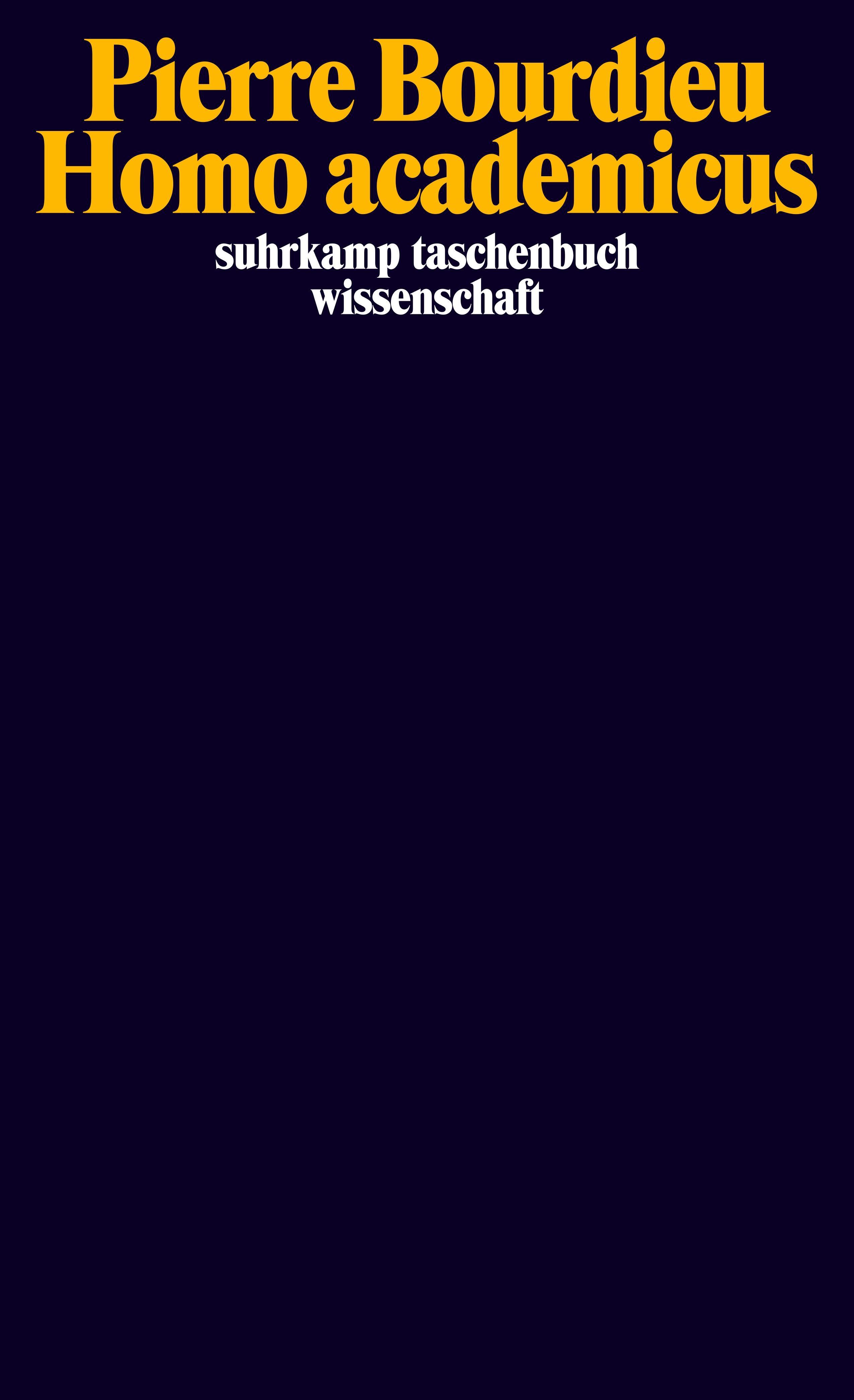 Homo academicus | Bourdieu, 1992 | Buch (Cover)