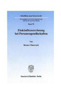 Abbildung von Pinkernell   Einkünftezurechnung bei Personengesellschaften.   2001   70