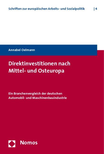 Direktinvestitionen nach Mittel- und Osteuropa | Oelmann, 2009 | Buch (Cover)
