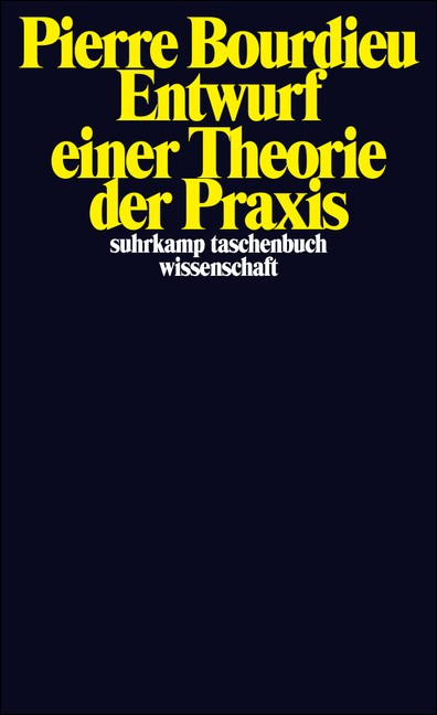 Entwurf einer Theorie der Praxis | Bourdieu, 1979 | Buch (Cover)