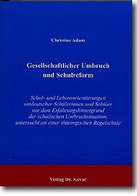 Gesellschaftlicher Umbruch und Schulreform | Adam, 2000 | Buch (Cover)