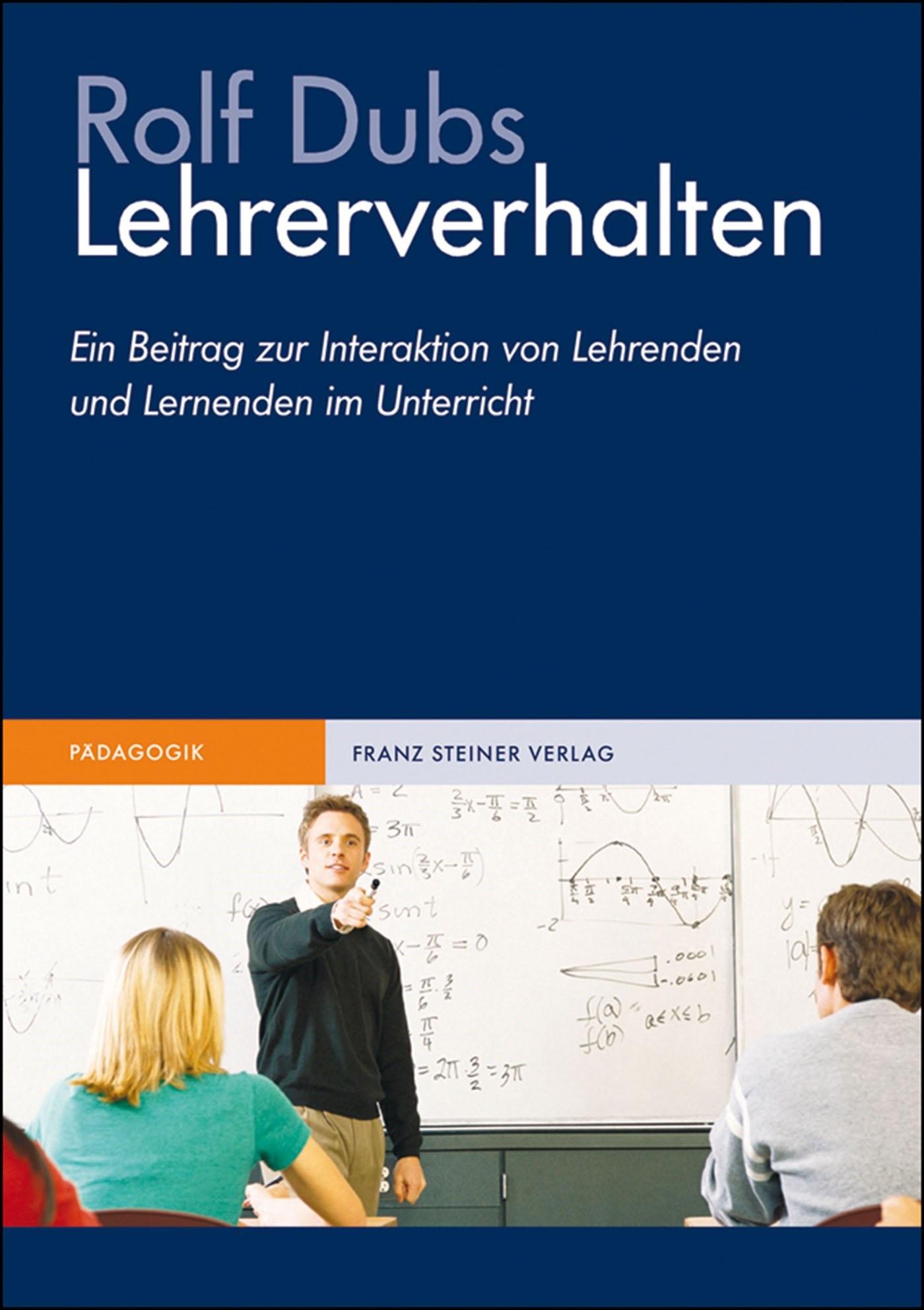 Lehrerverhalten | Dubs | 2. Auflage, überarbeitete, 2009 | Buch (Cover)
