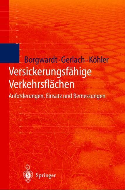 Versickerungsfähige Verkehrsflächen | Borgwardt / Gerlach / Köhler, 2000 | Buch (Cover)