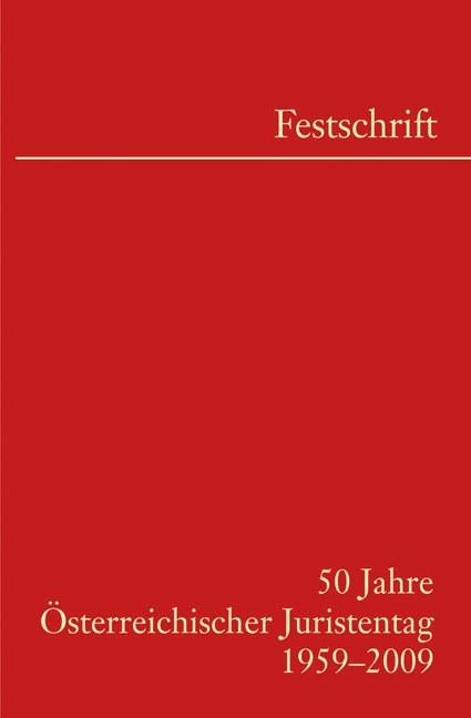 50 Jahre Österreichischer Juristentag | Österreichischer Juristentag, 2009 | Buch (Cover)