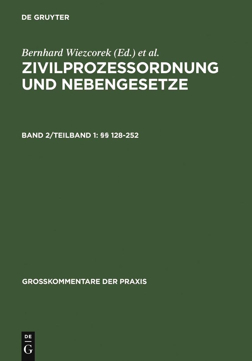 §§ 128-252 | Borck / Smid / Gerken / Rohe | Reprint 2011, 2007 | Buch (Cover)