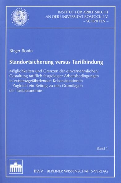 Abbildung von Bonin | Standortsicherung versus Tarifbindung | 2003