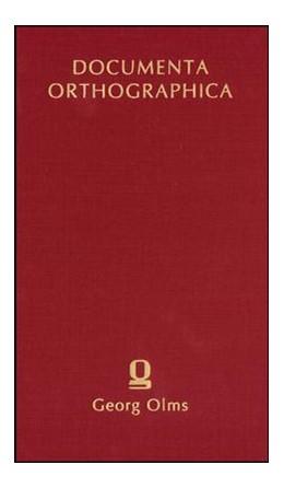 Abbildung von Werner / Moulin   Manuductio Orthographica   1., Aufl. (Nachdr. d. Ausg. Altenburg 1629)   2007   1