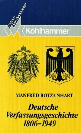 Deutsche Verfassungsgeschichte 1806-1949 | Botzenhardt, 1993 | Buch (Cover)