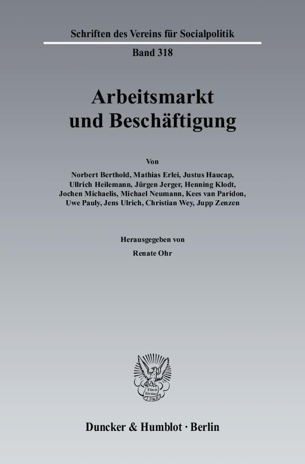 Arbeitsmarkt und Beschäftigung. | Ohr, 2007 | Buch (Cover)