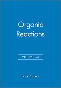 Abbildung von Paquette | Organic Reactions | 1998 | Volume 53 | 53