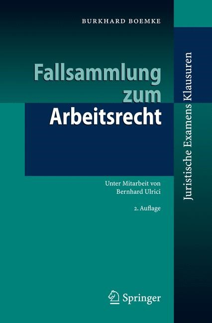 Abbildung von Boemke   Fallsammlung zum Arbeitsrecht   2., überarb. u. aktualisierte Aufl.   2007