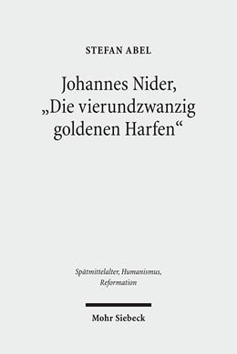 Abbildung von Abel   Johannes Nider 'Die vierundzwanzig goldenen Harfen'   2011   Edition und Kommentar   60