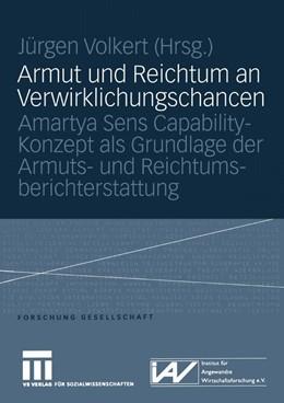 Abbildung von Volkert | Armut und Reichtum an Verwirklichungschancen | 2005 | Amartya Sens Capability-Konzep...