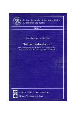 Abbildung von Roenne | Politisch untragbar...? | 1997 | Die Überprüfungen von Richtern... | 7