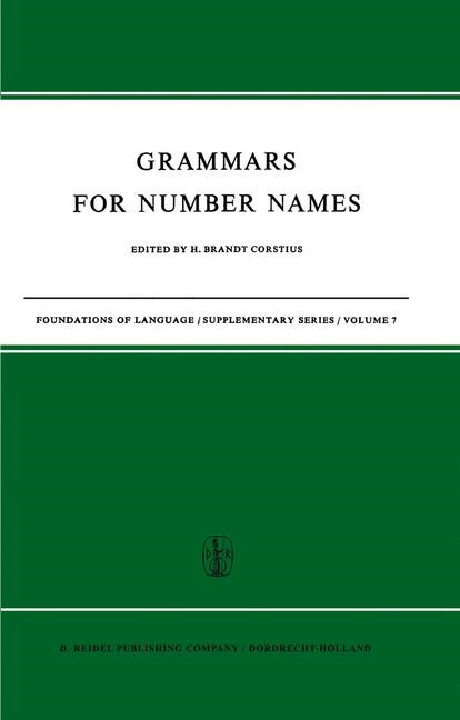 Grammars for Number Names | Brandt Corstius, 1968 | Buch (Cover)