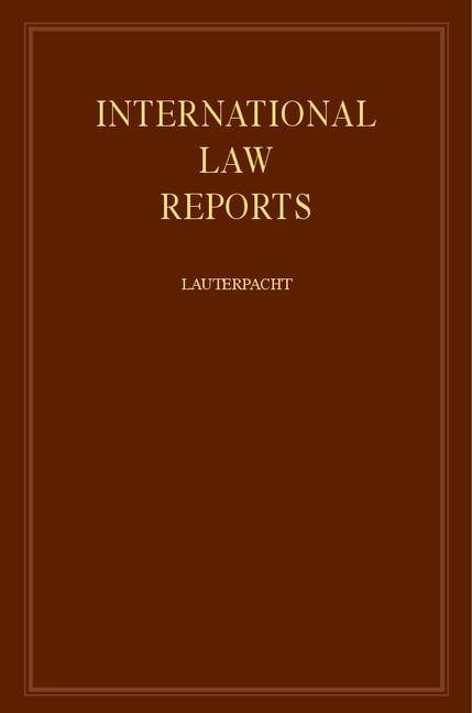 Abbildung von Lauterpacht | International Law Reports | 1981