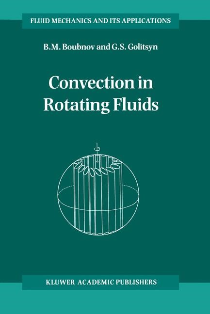 Convection in Rotating Fluids | Boubnov / Golitsyn, 1995 | Buch (Cover)