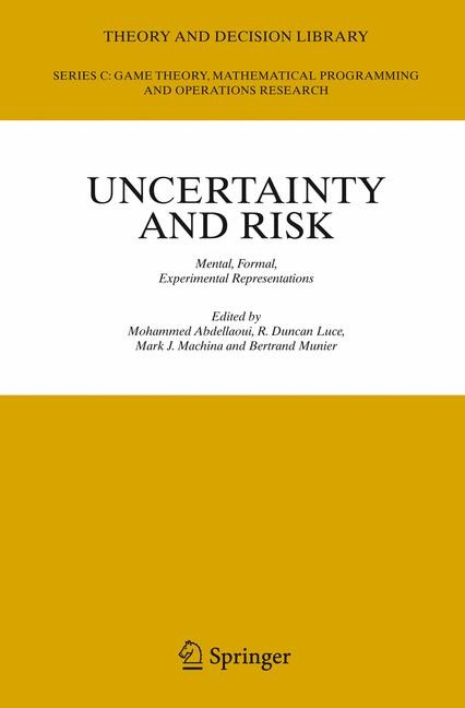 Uncertainty and Risk | Abdellaoui / Luce / Machina / Munier, 2007 | Buch (Cover)