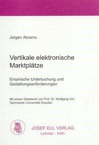 Vertikale elektronische Marktplätze | Abrams, 2002 | Buch (Cover)