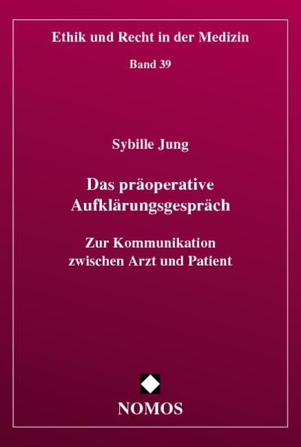 Das präoperative Aufklärungsgespräch   Jung, 2005   Buch (Cover)