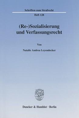 Abbildung von Pouralikhan   (Re-)Sozialisierung und Verfassungsrecht.   2002   128